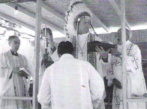 Bishop Craig Anderson on the Rosebud Reservation